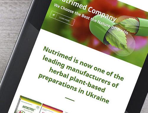 Nutrimed Ltd Webauftritt