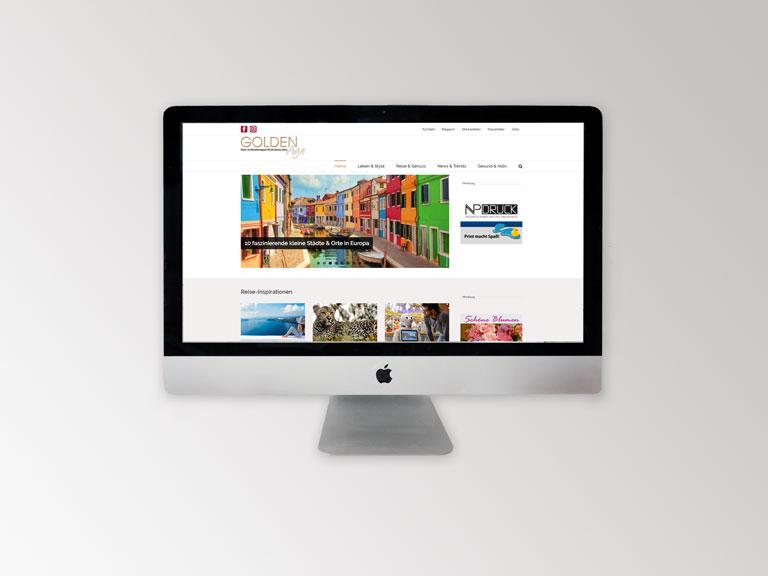 Golden Age Webseite Portfolio